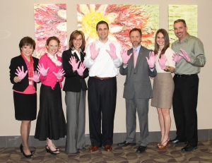 WBH and MSU staff in pink gloves